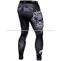 Компрессионные штаны Venum Minotaurus Spats Black, фото 2