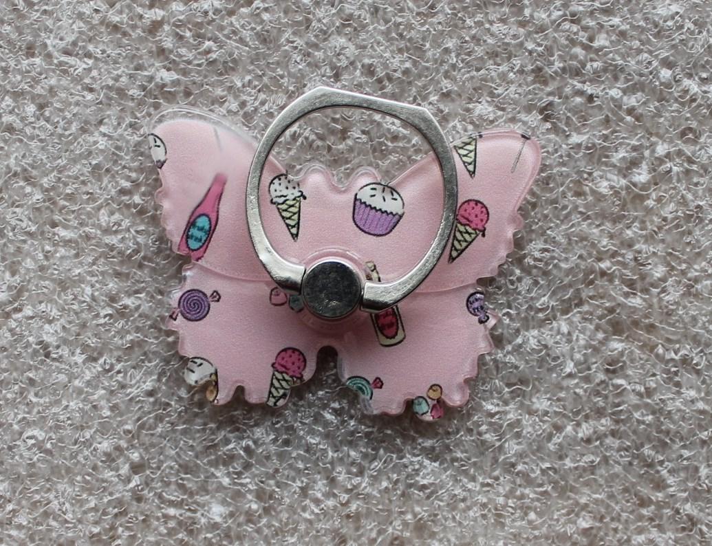 Держатель кольцо для телефона (попсокет / popsocket / подставка) Ring бабочка 5
