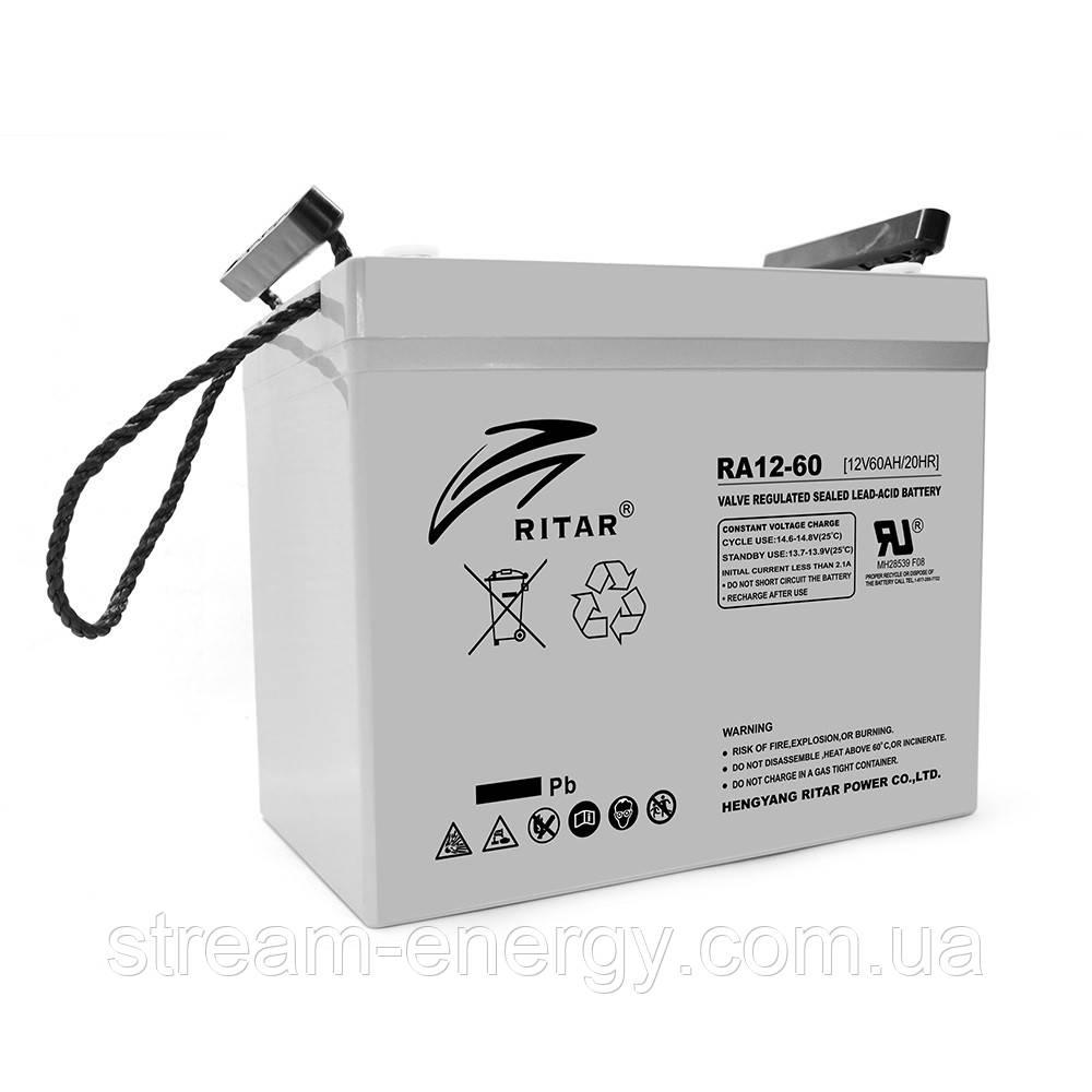 Аккумулятор AGM Ritar (12В -60Ач) RA12-60