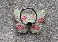 Держатель кольцо для телефона (попсокет / popsocket / подставка) Ring бабочка 3