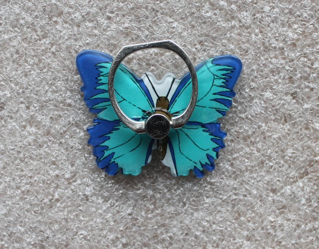 Держатель кольцо для телефона (попсокет / popsocket / подставка) Ring бабочка 2