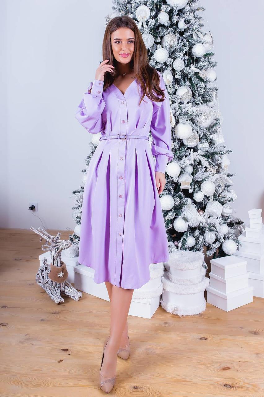 Сукня сорочка міді в кольорах 781052