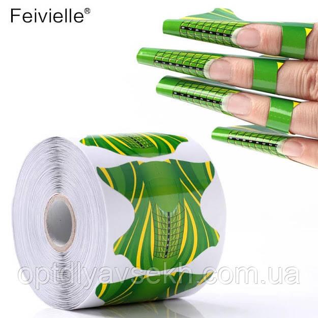 Форми для нарощування нігтів - рулон 300 шт. (7,5 * 6,5 див.)