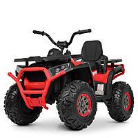 Детский квадроцикл M 4081 EBLR-2-3, EVA колёса, Ключ зажигания, ПУЛЬТ, детский электромобиль, черно-красный