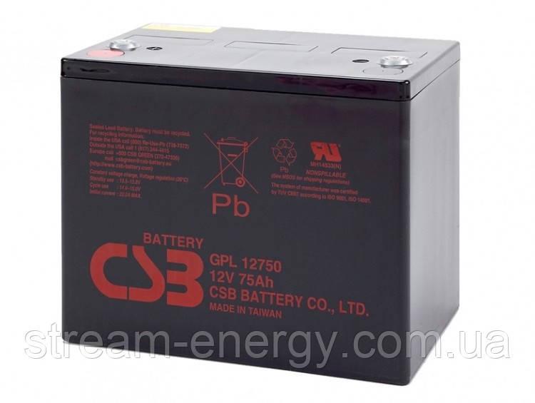 Аккумуляторная батарея CSB (12В - 75Ач) GPL12750