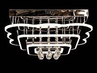 Светодиодная потолочная люстра с хрустальными подвесками с пультом 5045-450, фото 1