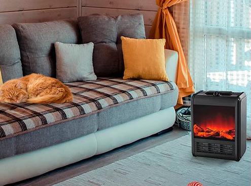 Электрокамин с эффектом живого огня Теплый дом Идея подарка!