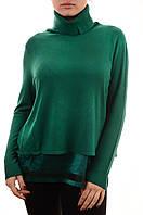 Модный женский свитер оптом с атласной вставкой Louise Orop пронто мода, фото 1