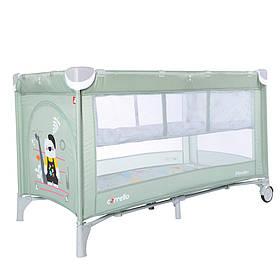 Манеж-кровать 2в1 Carrello Piccolo+ CRL-9201, Cameo Green