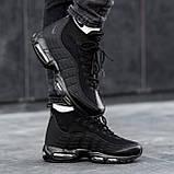 Чоловічі кросівки Nike Air Max 95 Sneаkerbоot в стилі Найк ЧОРНІ (Репліка ААА+), фото 2