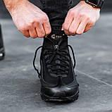 Чоловічі кросівки Nike Air Max 95 Sneаkerbоot в стилі Найк ЧОРНІ (Репліка ААА+), фото 4