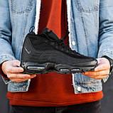 Чоловічі кросівки Nike Air Max 95 Sneаkerbоot в стилі Найк ЧОРНІ (Репліка ААА+), фото 5