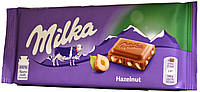 Шоколад молочный Milka Hazelnut 100г, фото 1