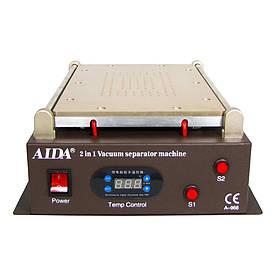 """Сепаратор 14"""" Aida A-968 (29,5 х 19 см) со встроенным компрессором для вакуумного способа фиксации стекла"""