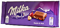 Шоколад молочный Milka Raisin & Nut 100г, фото 1