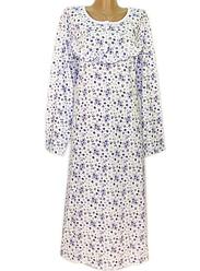 Длинная ночная рубашка женская (ночнушка) хлопковая трикотажная длинный рукав