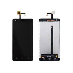 Дисплей (экран) для Oukitel K6000 Pro с сенсором (тачскрином) черный