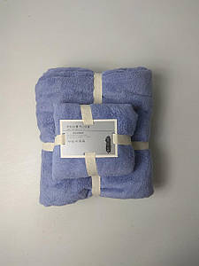 "Комплект полотенец, микрофибра ""Мандри"" Синий"