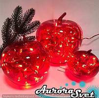 """Декор световой """"Красные Яблоки""""Светодиодная гирлянда. Гирлянда LED. Производство Франция."""