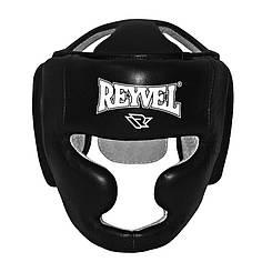 Боксерский шлем Reyvel тренировочный кожа черный размер L