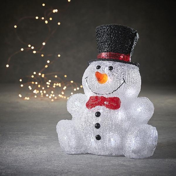 """Фигура светодиодная """"Снеговик 31,5 см"""", акриловая, 30 led """"Luca Lighting"""""""
