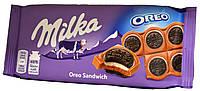 Шоколад молочный Milka Oreo 92г