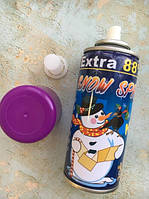 Снег искусственный в баллончике 250 ml аэрозольный нетающий, Фиолетовый