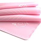 Силиконовый коврик для раскатки теста 62*42 (розовый), фото 2