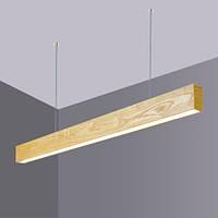 Линейный деревянный LED светильник Vela Viga (30вт, 103 см)
