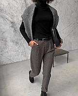 Женские тёплые брюки из трикотажной шерсти