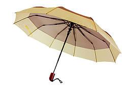Зонт складной, полуавтомат, 10 спиц, серый