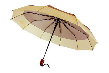 Зонт складной, полуавтомат, 10 спиц, серый, фото 2