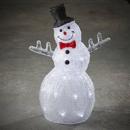 """Фигура светодиодная """"Снеговик 38.5 см"""", акриловая, 30 led """"Luca Lighting"""", фото 2"""