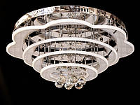 Светодиодная потолочная люстра с хрустальными подвесками с пультом A5045-600, фото 1