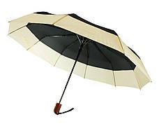Зонт складной, полуавтомат, 10 спиц, темно-зеленый