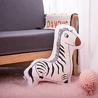 Мягкая игрушка - подушка Игривая зебра, 50 см