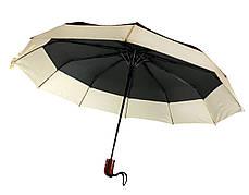 Зонт складной, полуавтомат, 10 спиц, черный