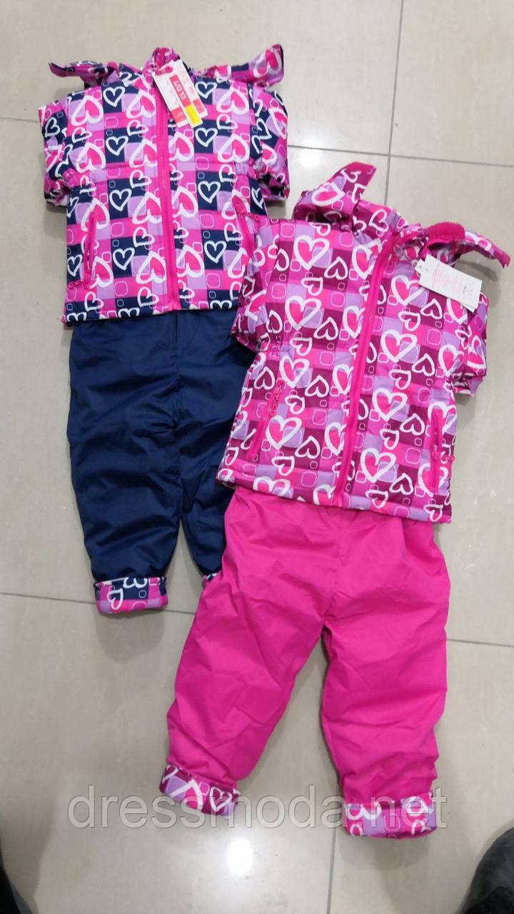 Полукомбинезон  в комплекте с курточкой на меху для девочек Crossfire 1-5 лет