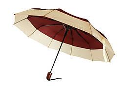 Зонт складной, полуавтомат, 10 спиц, бордовый