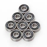Подшипники для  для роликовых коньков,самокатов,скейтбордов  8шт.608-RS (ABEC-9), фото 4