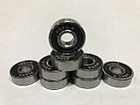 Подшипники для  для роликовых коньков,самокатов,скейтбордов  8шт.608-RS (ABEC-9), фото 3