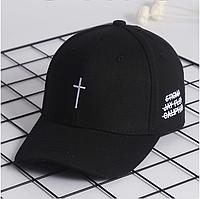 Кепка бейсболка Крест  (черная)