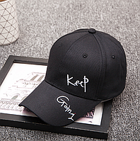 "Кепка бейсболка "" Keep Ctoin 1 ""  (черная)"