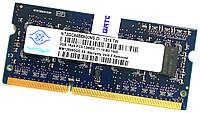 Оперативная память для ноутбука Nanya SODIMM DDR3 2Gb 1600MHz 12800s 1R8 CL11 (NT2GC64B88G0NS-DI) Б/У, фото 1