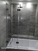 Шторка на ванную из стекла, душевая, перегородка
