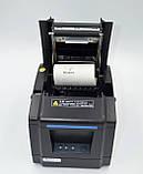 Термопринтер, POS, чековий принтер Xprinter XP-F600L USB чорний (XP-F600L), фото 3