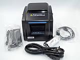 Термопринтер, POS, чековий принтер Xprinter XP-F600L USB чорний (XP-F600L), фото 5