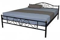 Кровать металлическая двуспальная Релакс 160*200 см с ламелями без матраса