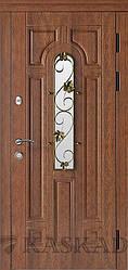 Двері вхідні Ліана зі склом і ковкою серії Еталон ТМ Каскад