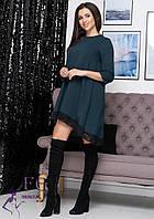 Свободное платье с кружевом 026 D/03